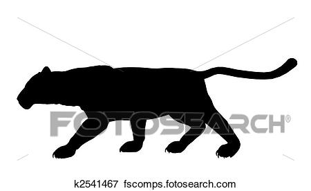 450x276 Stock Illustration Of Panther Illustration Silhouette K2541467