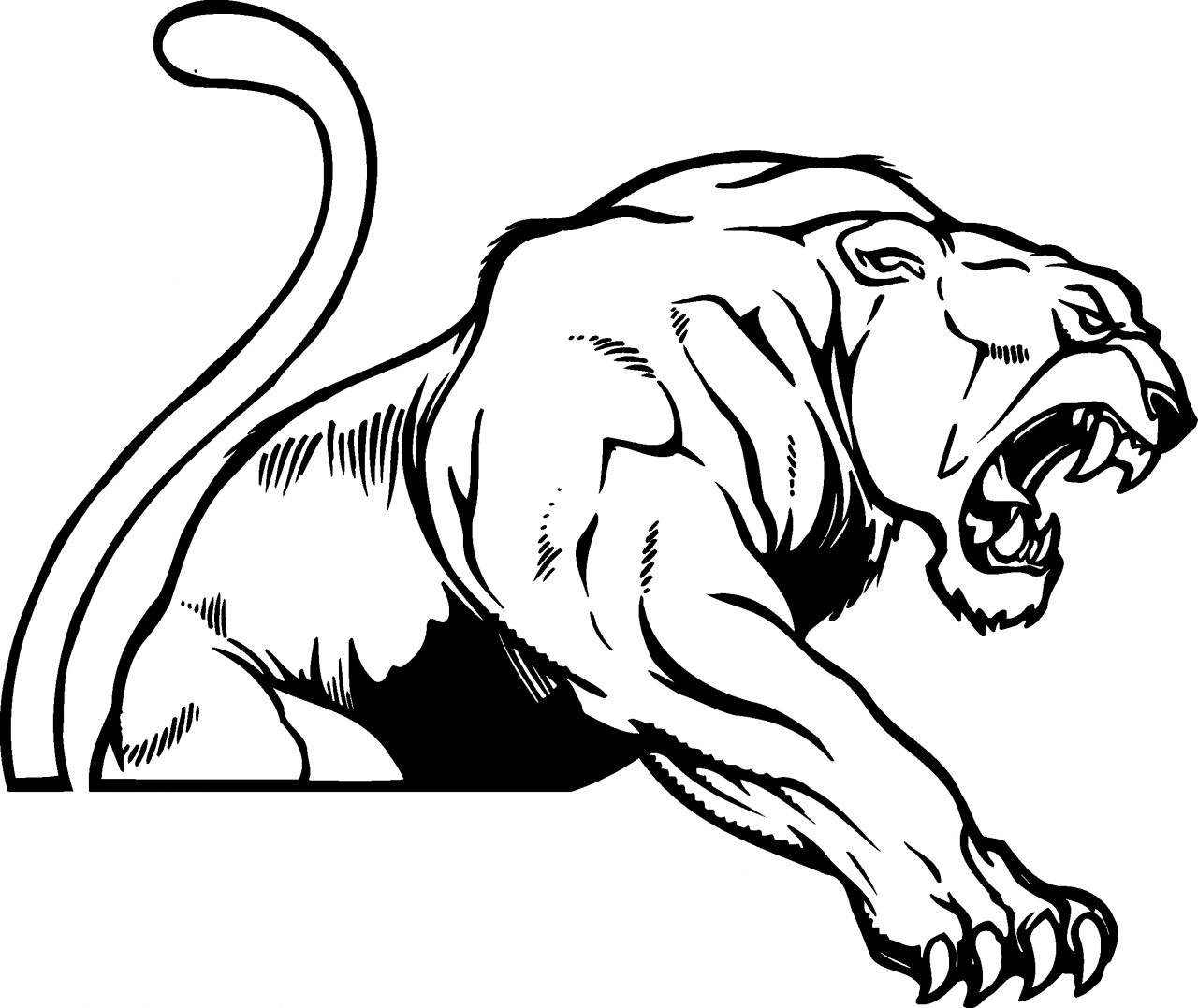 1280x1077 Top 81 Panther Clipart