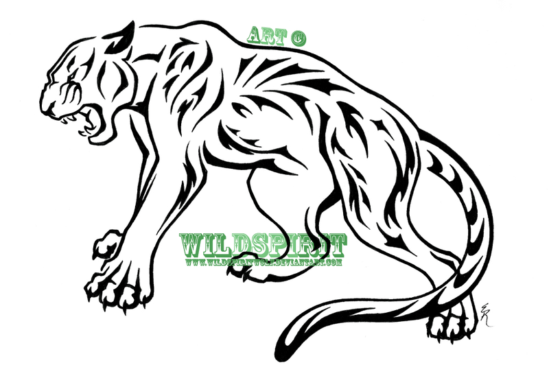 800x548 Tribal Nature Panther Tattoo By Wildspiritwolf
