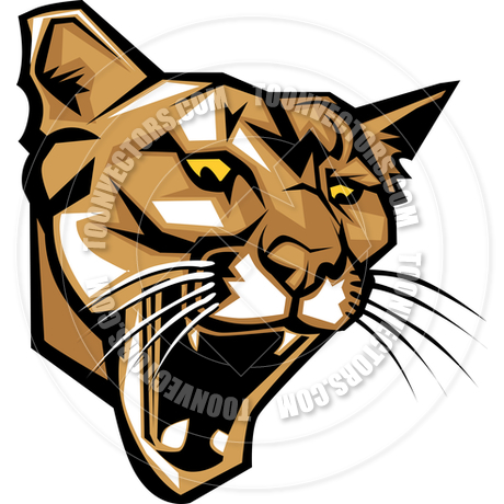 460x460 Cougar Panther Mascot Head Vector Graphic By Chromaco Toon