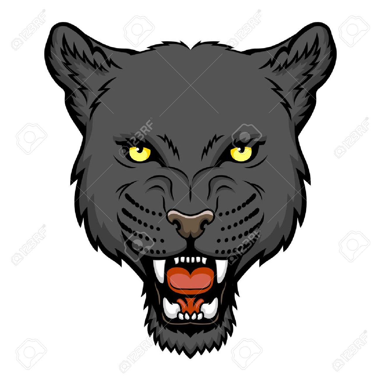 1300x1300 A Panther Head Logo This Is Illustration Ideal For A Mascot