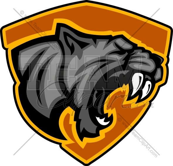 590x564 Panther Mascot Logo Clipart Image.