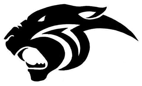 480x290 Panther Clipart Logo