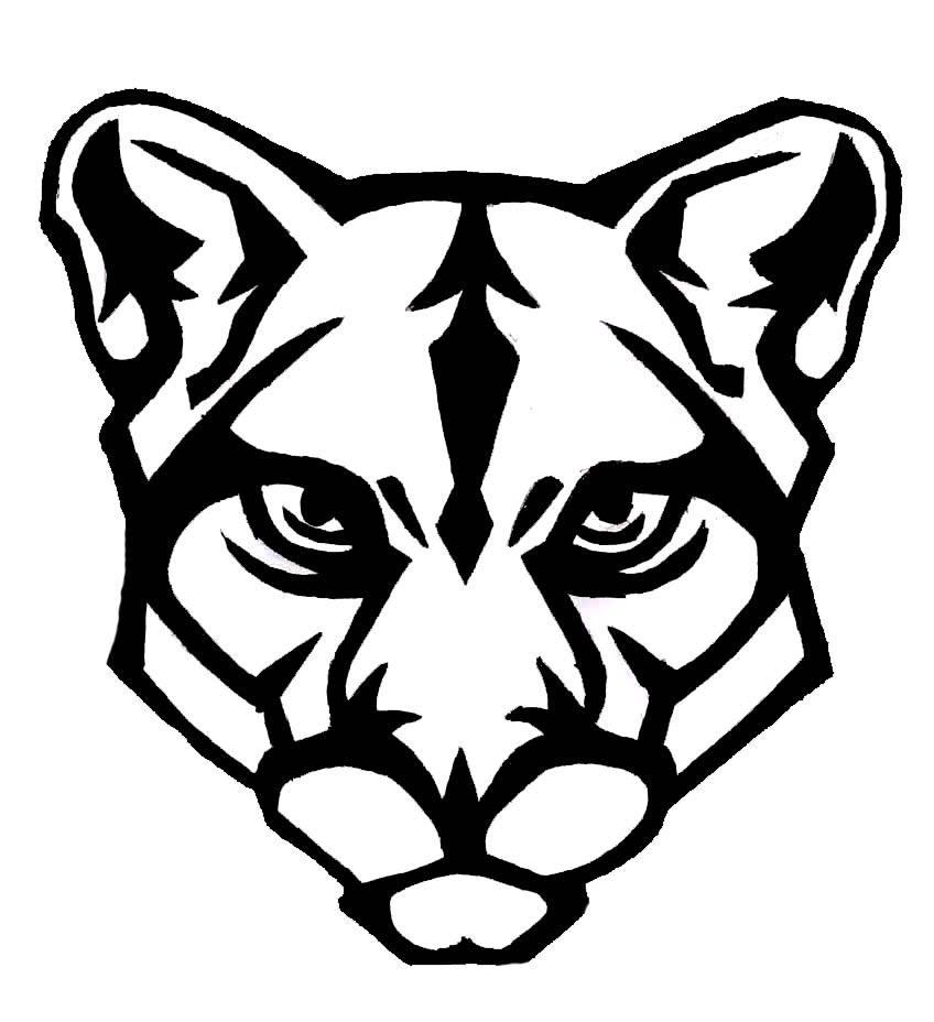 848x928 Panther Logo Face Clipart