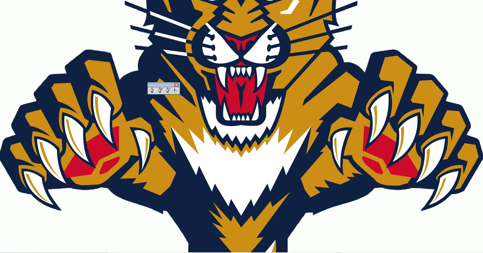 1550x813 Illustrator Sports Logo Reproduction The Florida Panthers Aura
