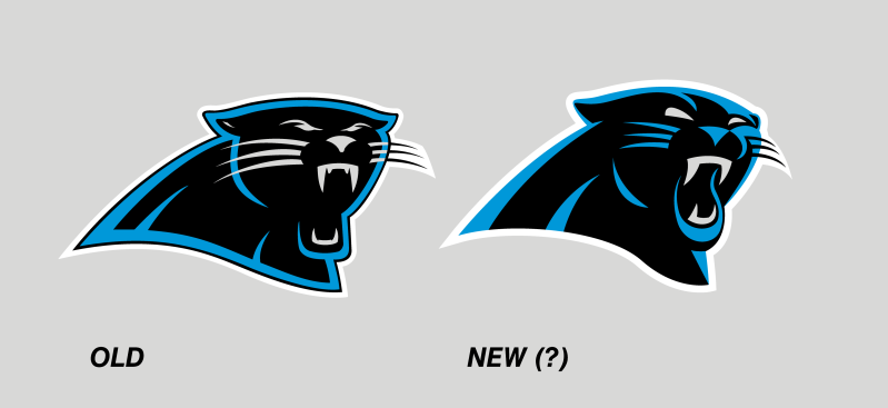 799x367 It's Football Time In Charlotte The New Panthers Logo