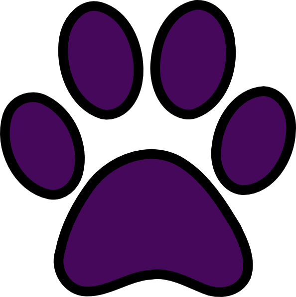 594x597 Panther Clipart Purple