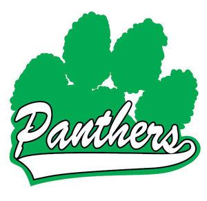 300x291 Green Panther Paw Print Green