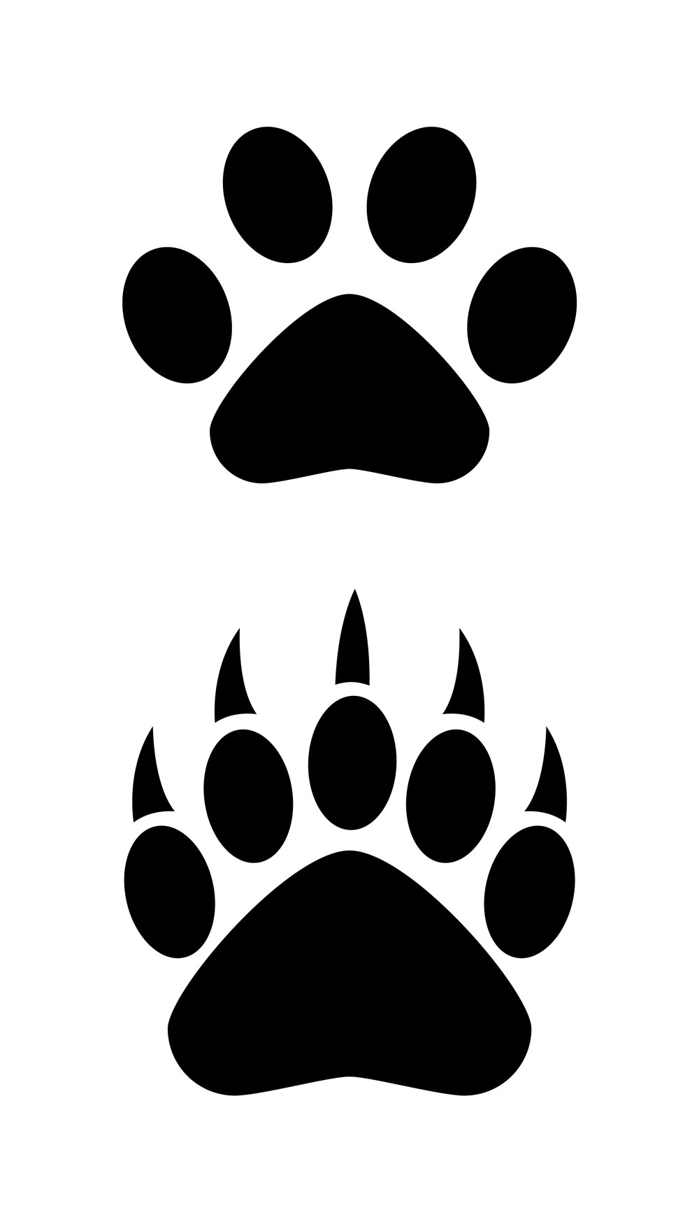 1000x1750 Bear Paw Paw Clip Art Free Clipartfest