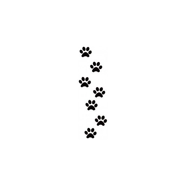 600x600 Dog Paw Prints Mens Stone Dog Paw 3d Tattoo On Upper Arm Black
