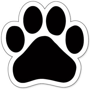 300x299 Dog Paw Prints Panther Paw Print Clip Art Clipart Locker