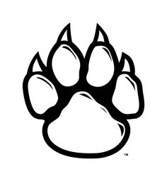236x256 Panther Paw Print Pattern. Use The Printable Outline For Crafts