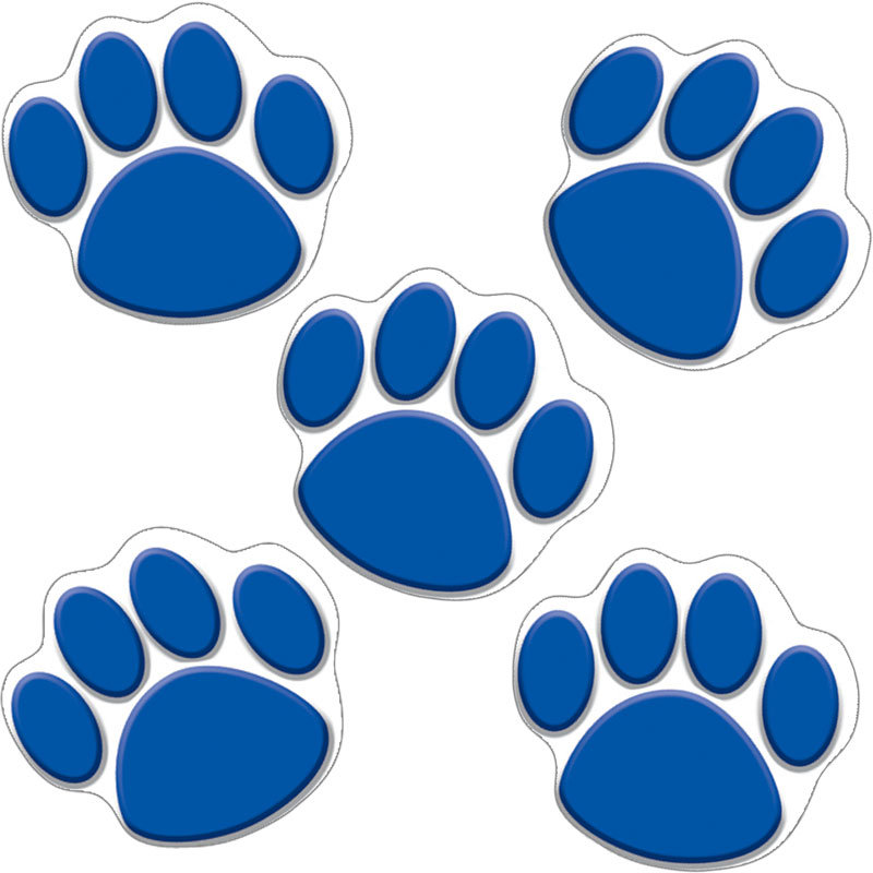 800x800 Paw Clipart Blue Dog