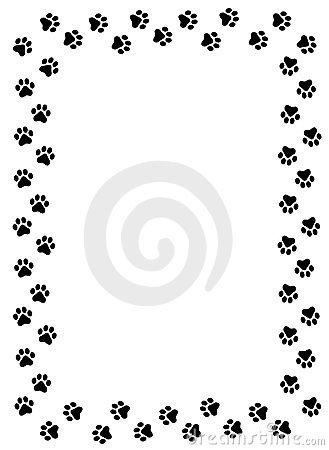 329x450 Panther Paw Border Clipart