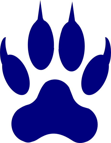 462x594 Panther Paw Clipart