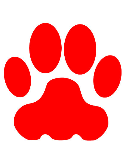 413x550 Red Panther Paw Clipart
