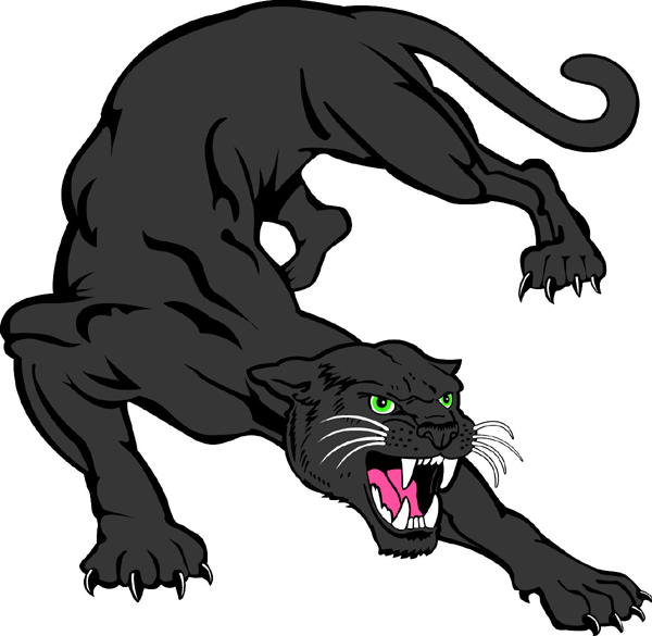 600x585 Panther Clipart Panther Mascot