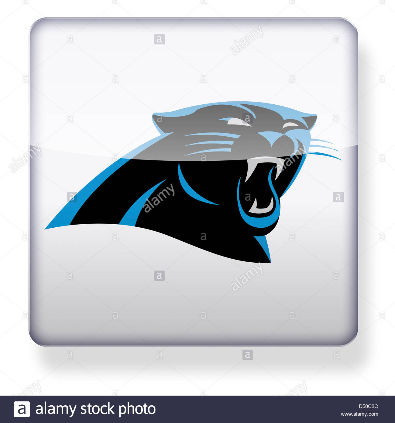 1300x1390 Carolina Panthers Logo As An App Icon. Clipping Path Included
