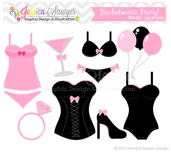 570x511 Instant Download Bachelorette Party Clip Art Bridal Shower