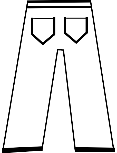 456x593 Clip Art Black And White Pants Clipart