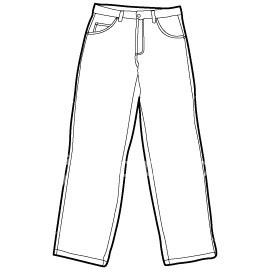270x270 Jeans Clipart Black And White