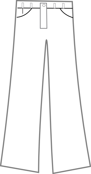 312x594 Pants Black And White Clip Art
