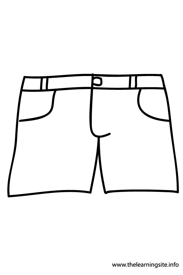 600x900 Art Black And White Shorts Clipart