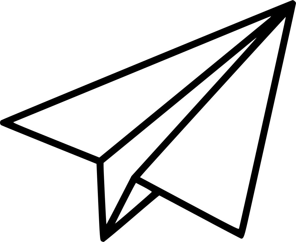 980x802 Airplane Flight Paper Paperairplane Paperplane Plane Travel Svg