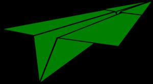 300x165 Green Paper Airplane Clip Art