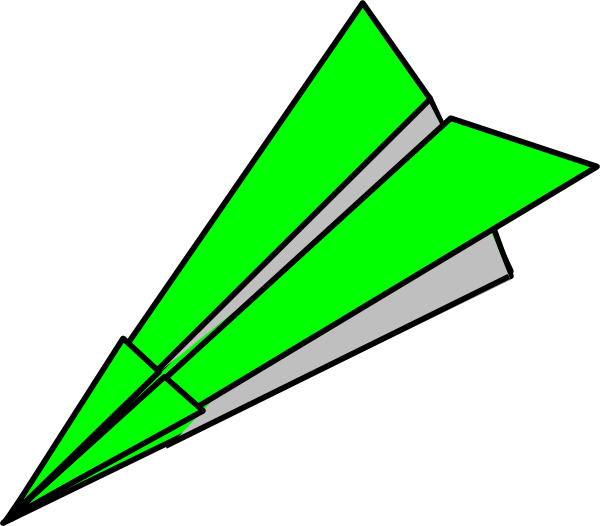 600x526 Green Paper Plane Clip Art