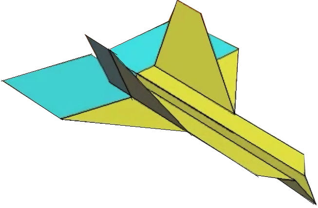 653x427 How To Fold The Wildebeest Paper Airplane