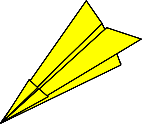 600x524 Image Of Paper Airplane Clipart