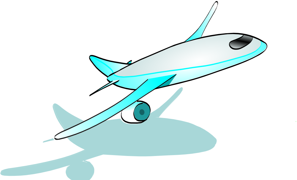 1000x607 Paper Airplane Clip Art