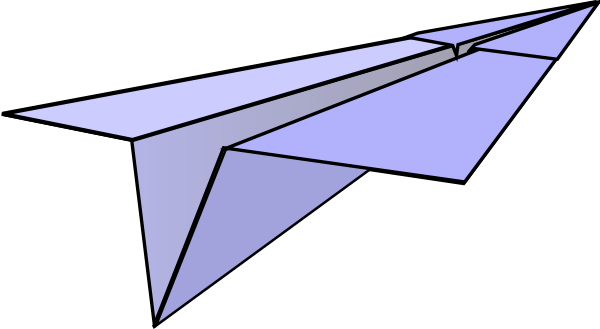 600x329 Paper Airplane Clip Art
