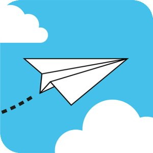 300x300 Paper Airplane Clipart 2008522