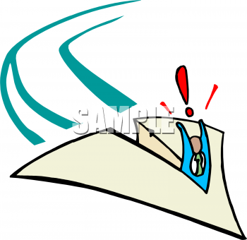 350x340 Paper Airplane Clipart
