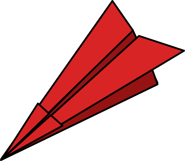 600x524 Red Paperplane Clip Art