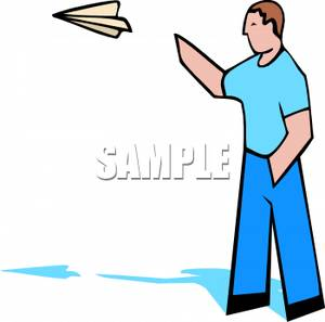 300x297 Art Image A Man Throwing A Paper Plane