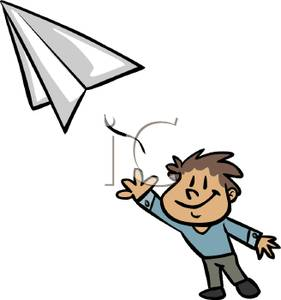281x300 Boy Throwing A Paper Airplane