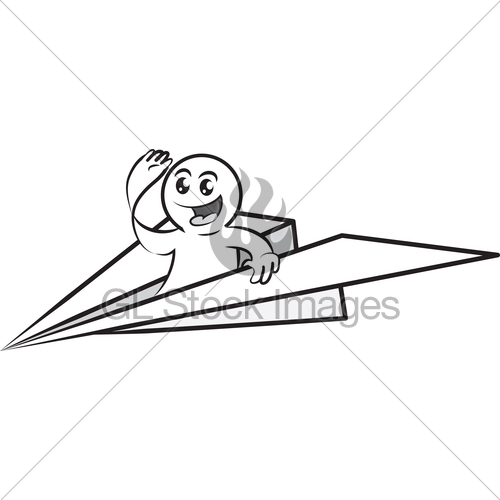 500x500 Paper Airplane Flying Clipart Panda