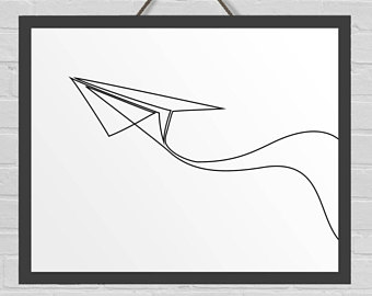 340x270 Paper Airplane Art Etsy