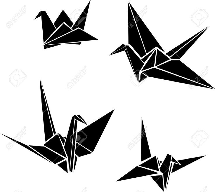 736x658 Best 25 Paper Crane Tattoo Ideas Origami