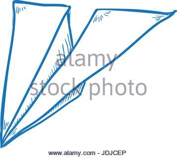 357x320 Paper Plane Draw Stock Vector Art Amp Illustration, Vector Image