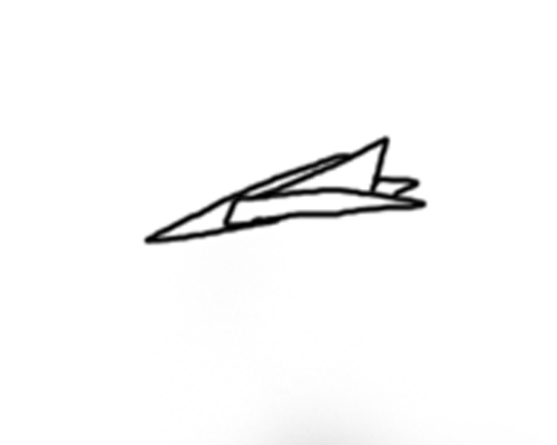 500x400 Paper Airplane By Lovetodraw93