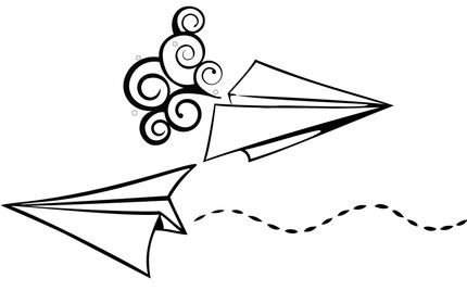 430x268 Drawn Airplane Outline