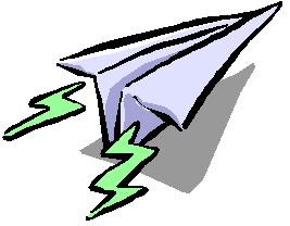 267x208 Paper Airplane Clipart 2008524