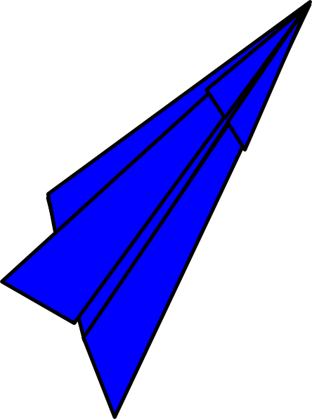 444x596 Paper Airplane Clipart