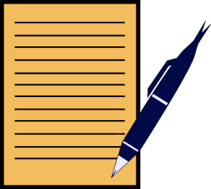 300x269 Pen With Paper Clip Art Download