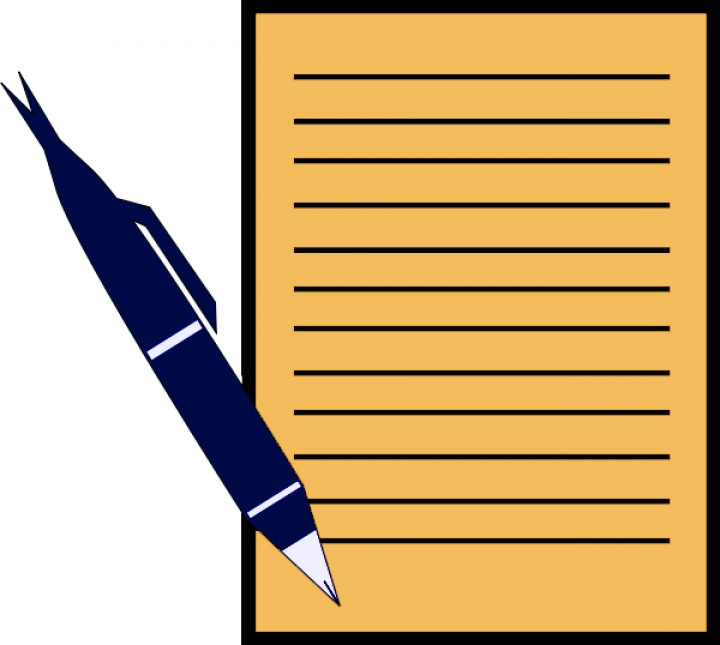 720x645 Pen Clipart Reflection Paper