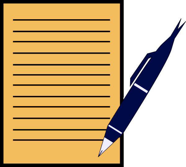 600x538 Pencil And Paper Clip Art